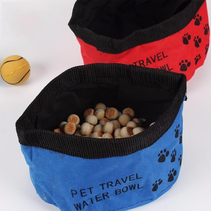 Pet Bowl - Portable Canvas Folding Pet Bowl