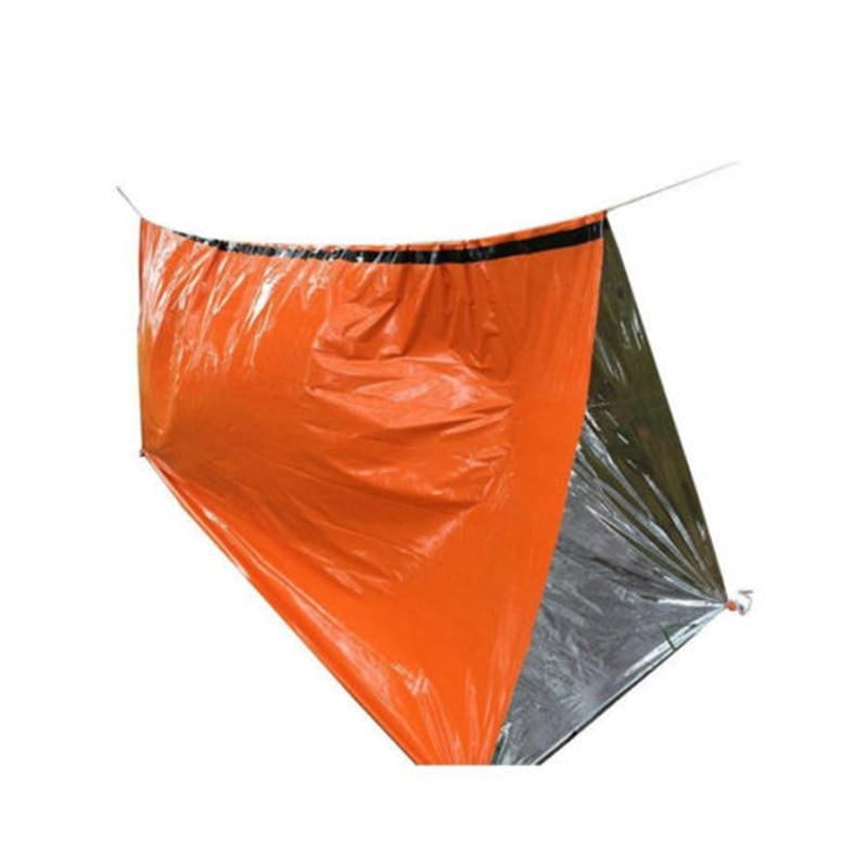 Survival - Outdoor Emergency Thermal Survival Blanket, Sleeping Bag, Tent & More (2 Pack)