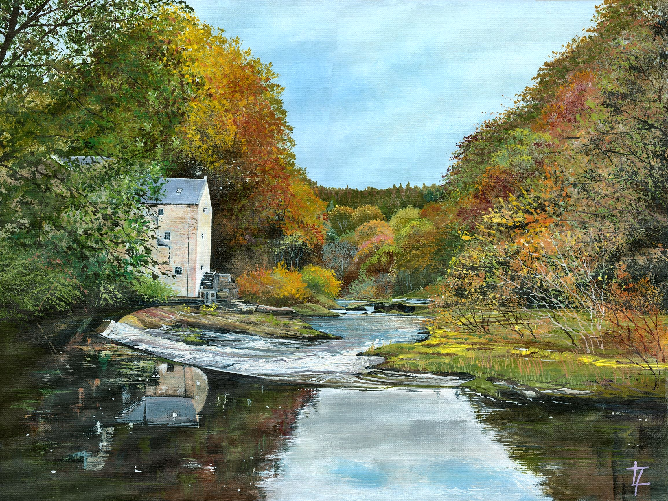 Thrum Mill Autumn Reflections