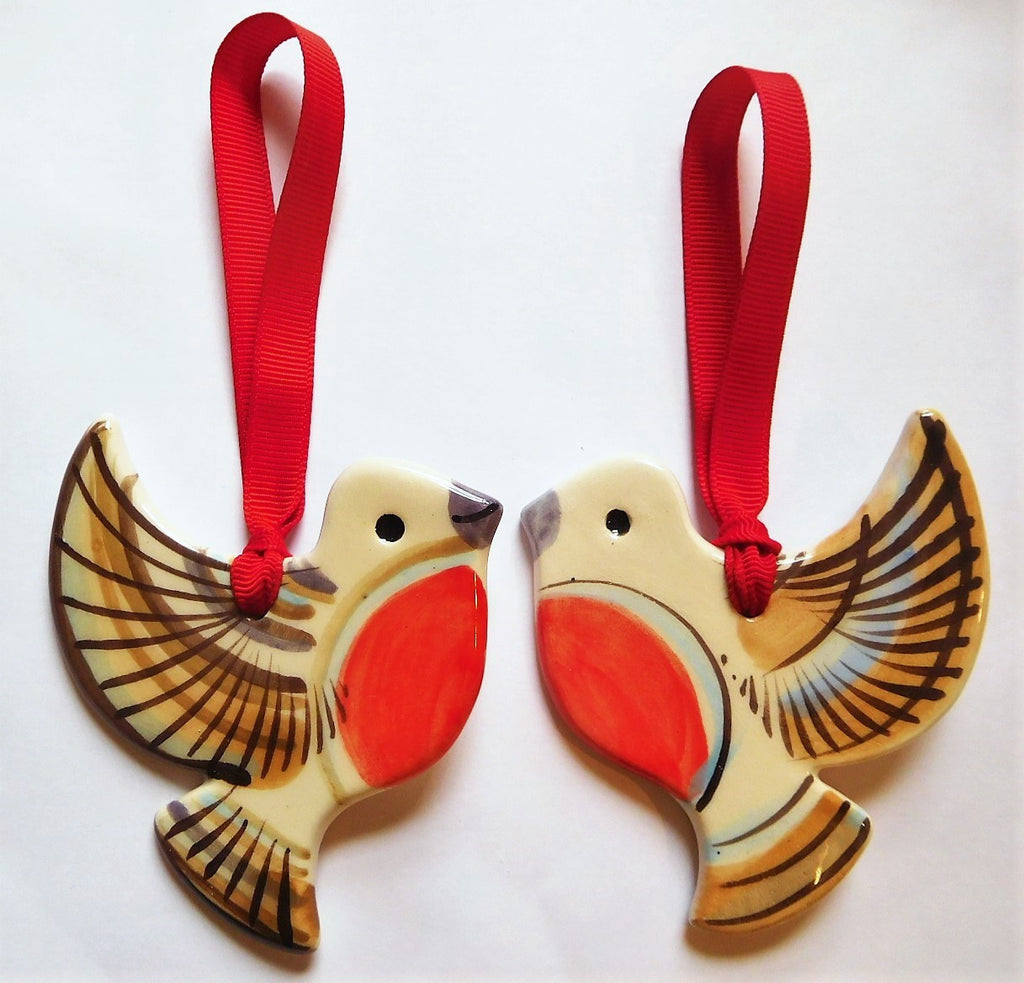Ceramic Art- Pair of Robins