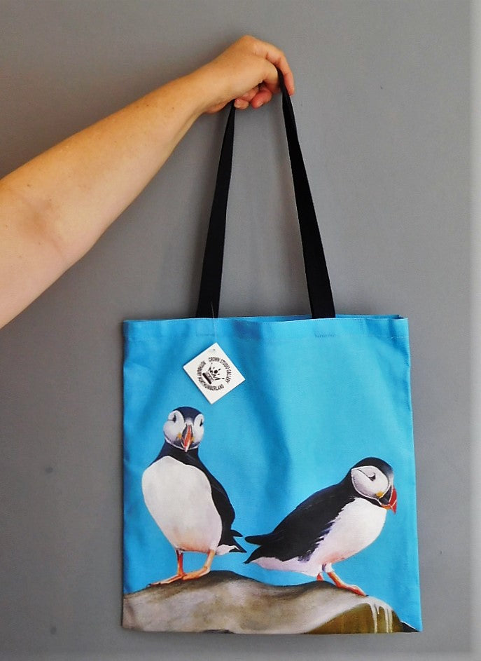 Tote Bag Puffin Design