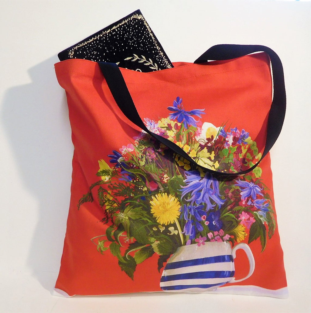 Tote Bag Spring Flowers Design
