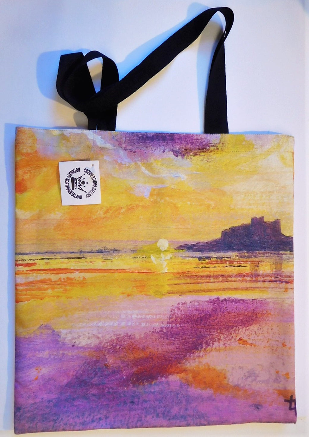 Tote Bag Bamburgh Castle Sunrise Design
