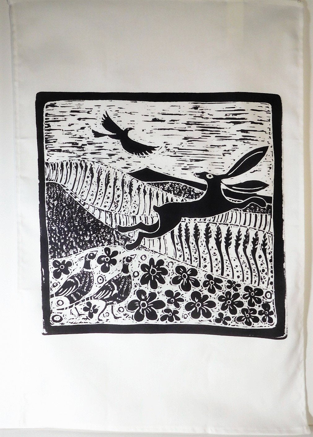 Tea Towel- Hare and Pheasants