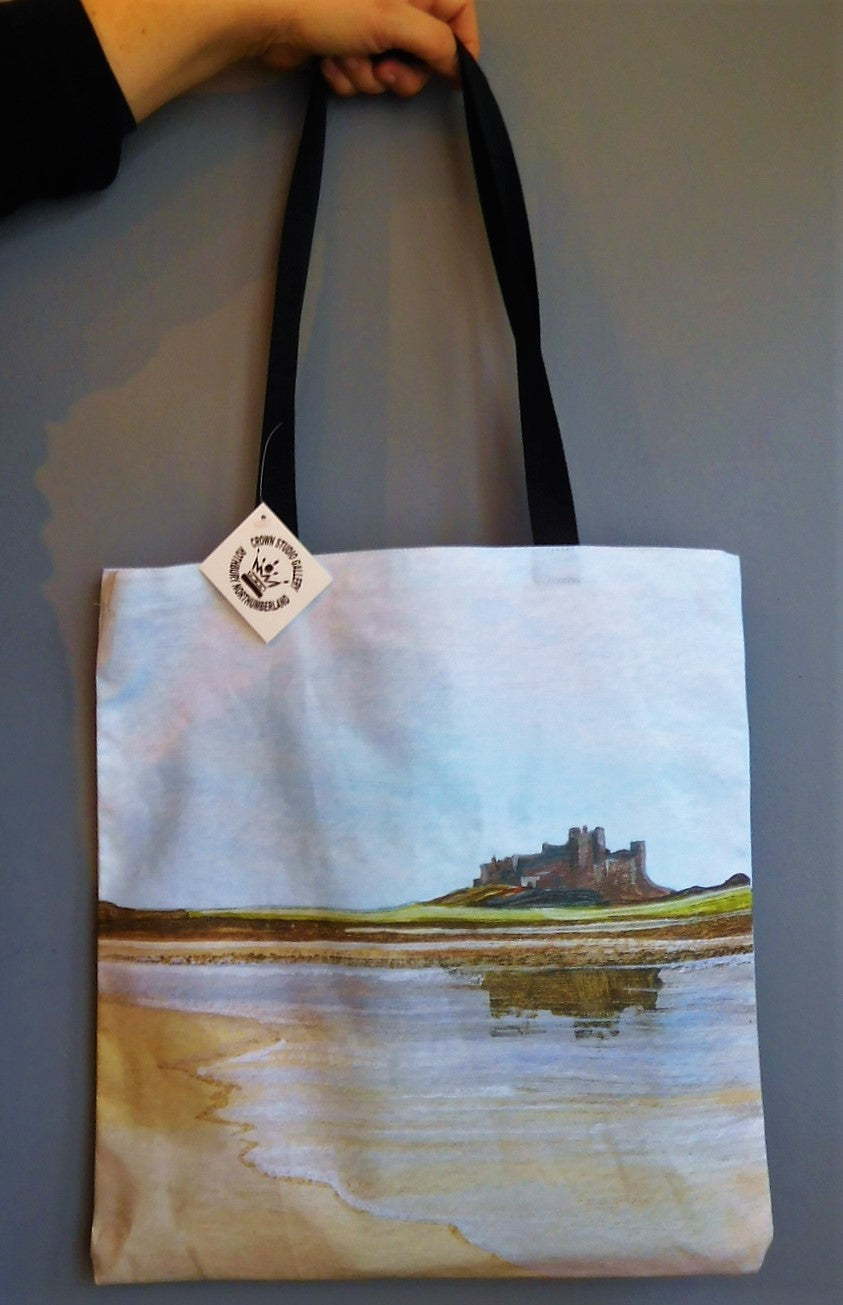Tote Bag Bamburgh Castle Reflections