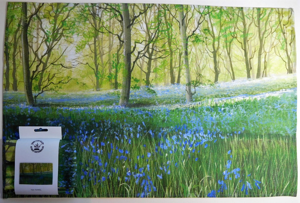 Tea Towel-Bluebell Woods