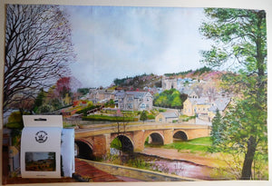 Tea Towel- Rothbury Bridge in Spring