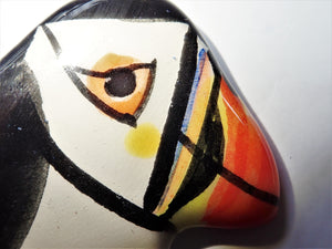 Ceramic Art- Pair of Puffins