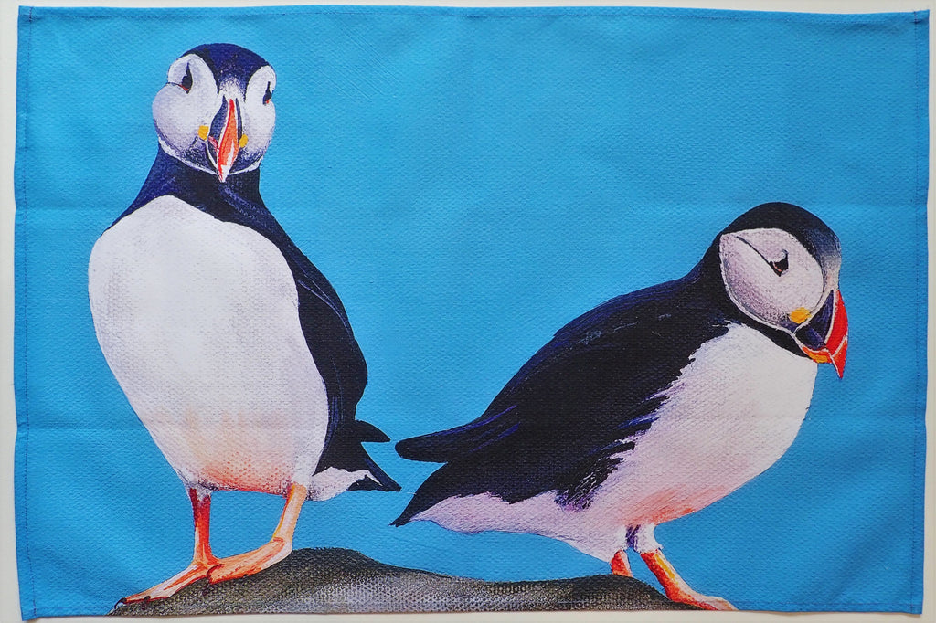 Tea Towel- Puffins