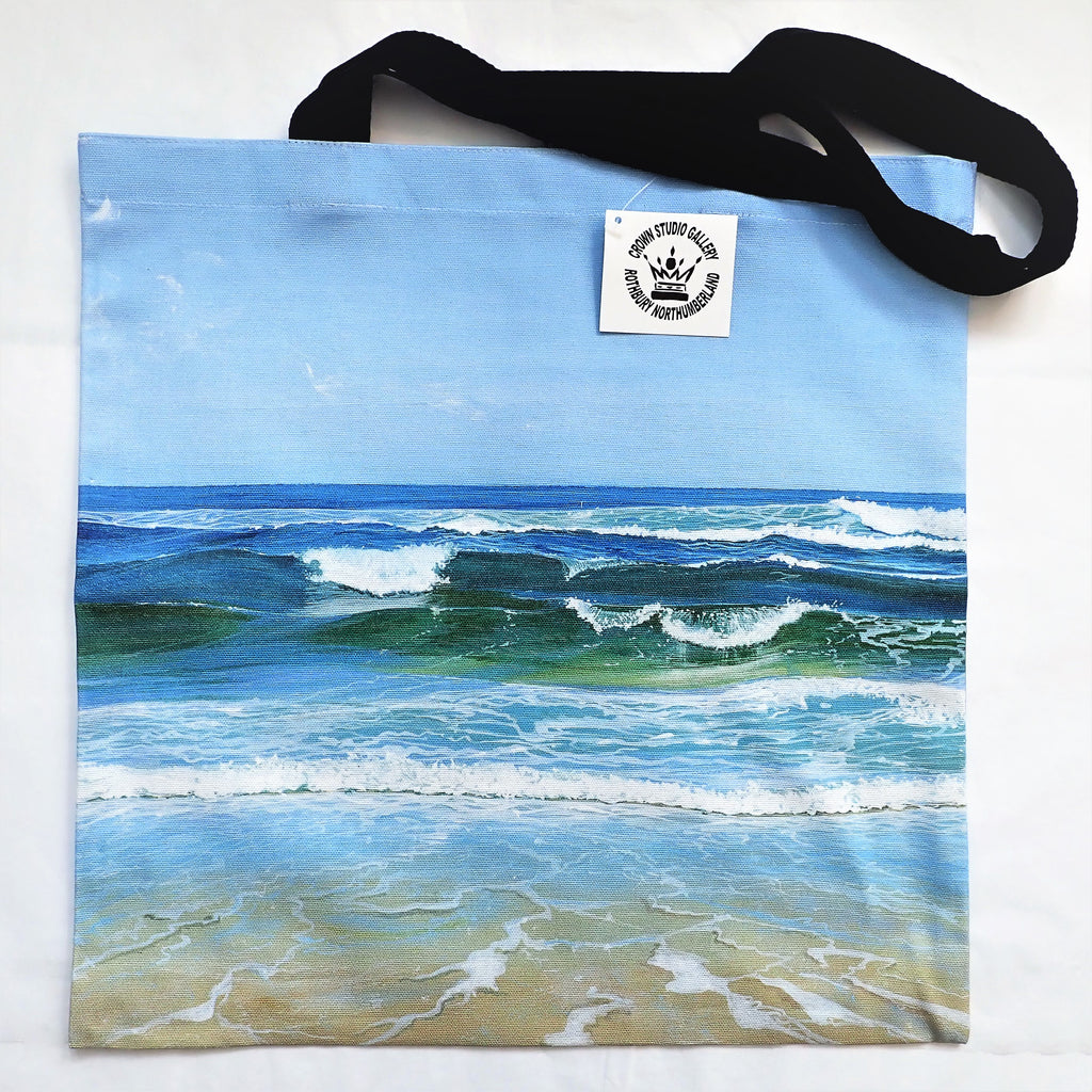 Tote Bag Seascape Design