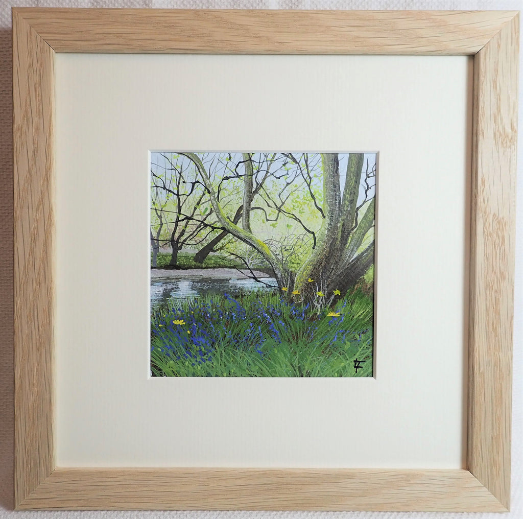 Riverbank Bluebells - Original Painting
