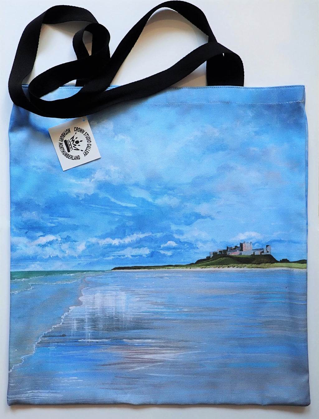Tote Bag Bamburgh Beach Reflections Design