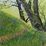 Bluebell Path - Original Painting