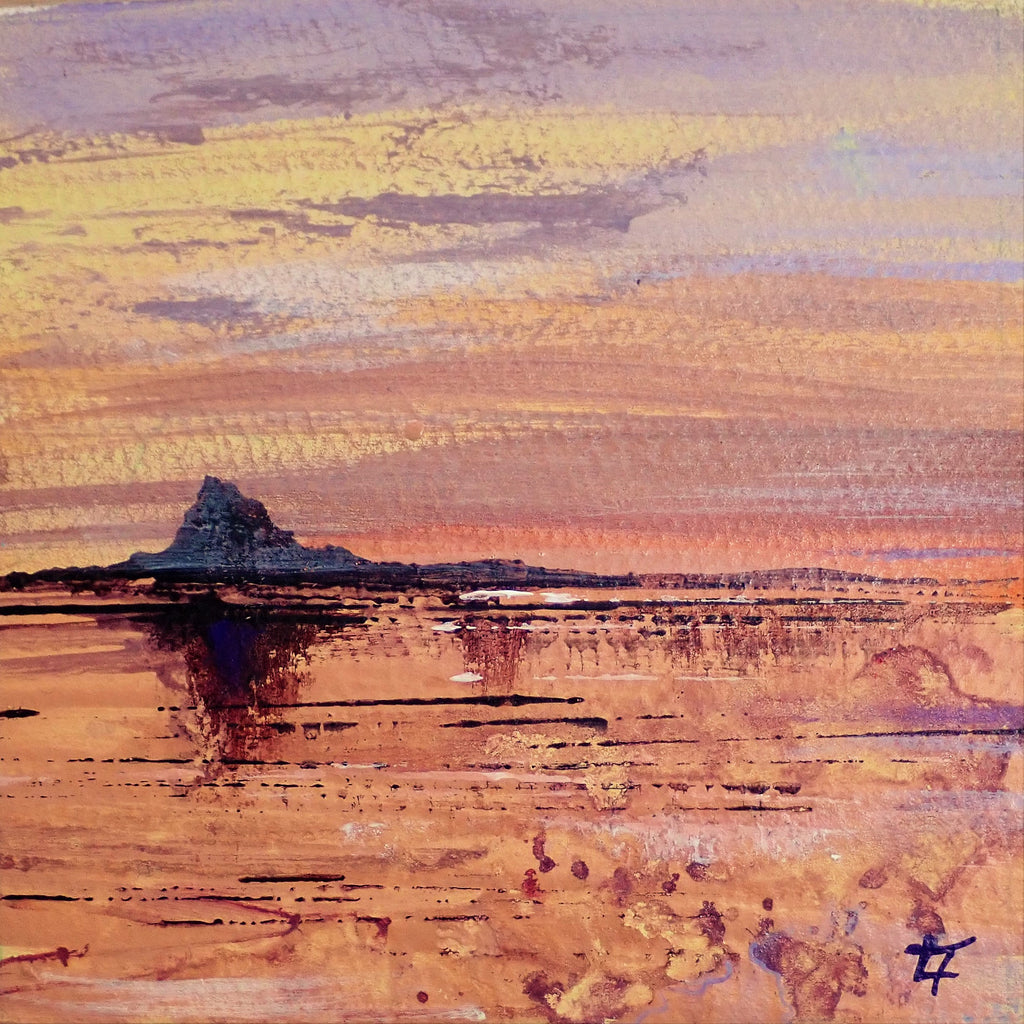 Dunstanburgh Castle- Footprints in the Frost- Original Painting