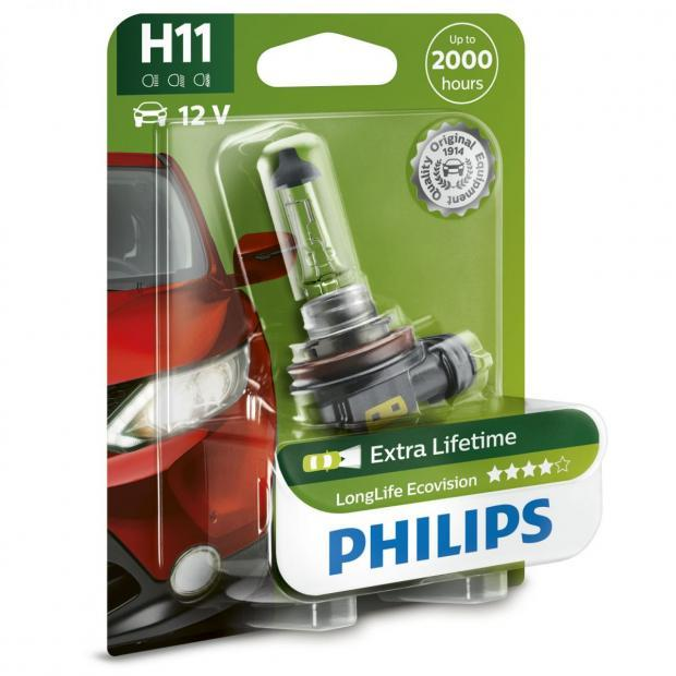Longlife EcoVision H11 Headlight Bulbs (Single Pack)