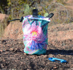Flower Chalk Bag made from EcoCanvas