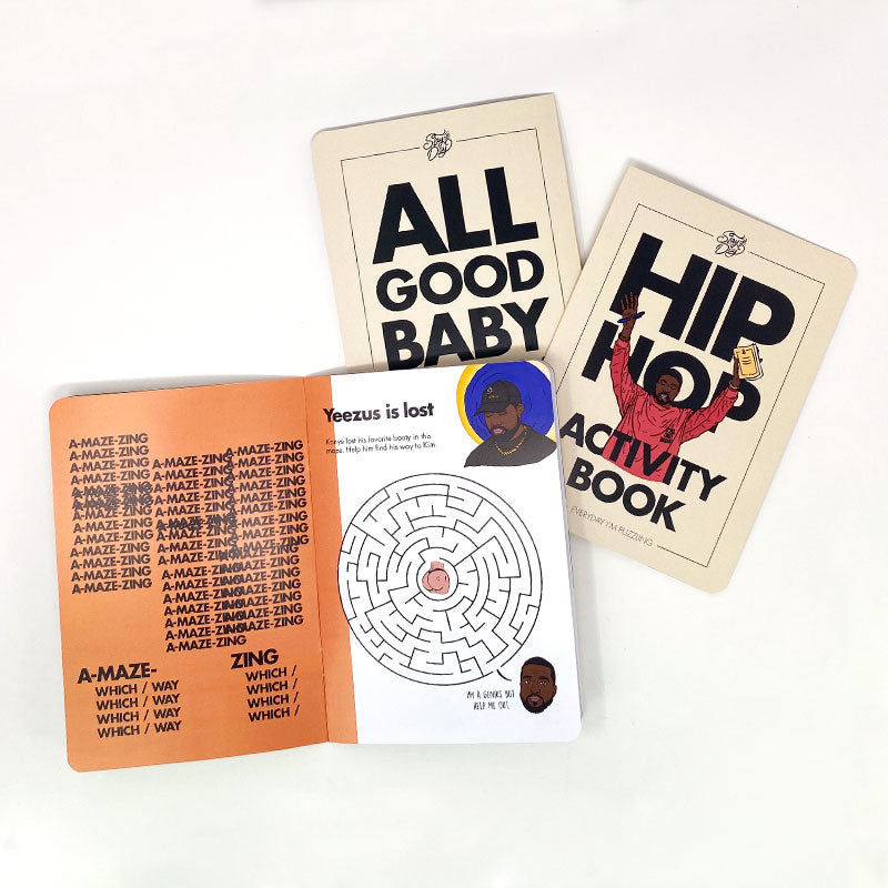 hip hop activity book kanye maze
