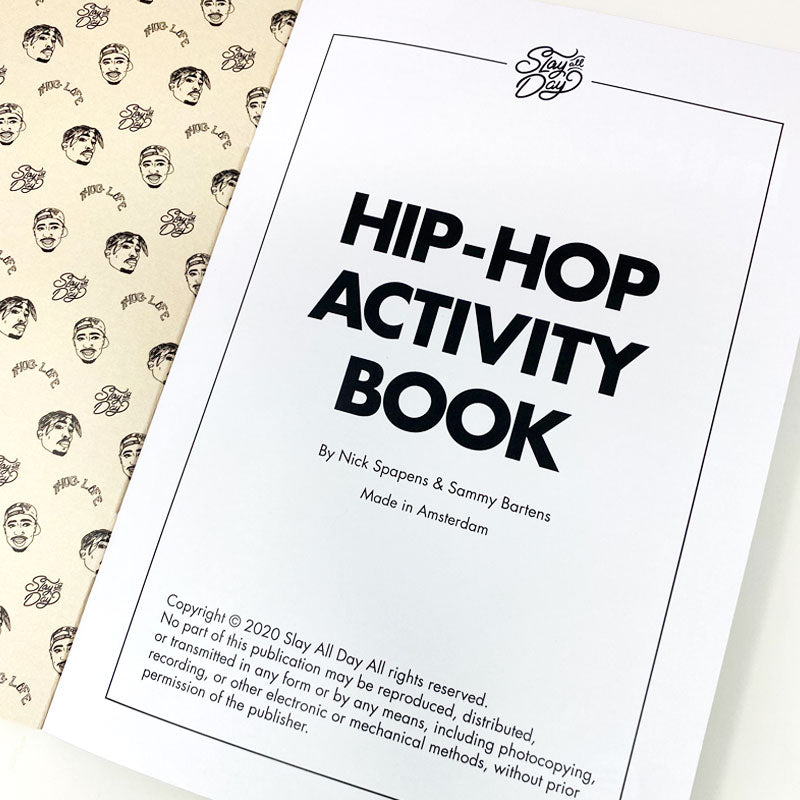 Hip-hop activity book first page