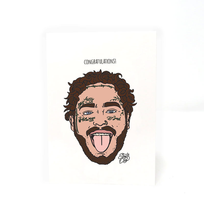 Congratulations! - Post malone | Postcard