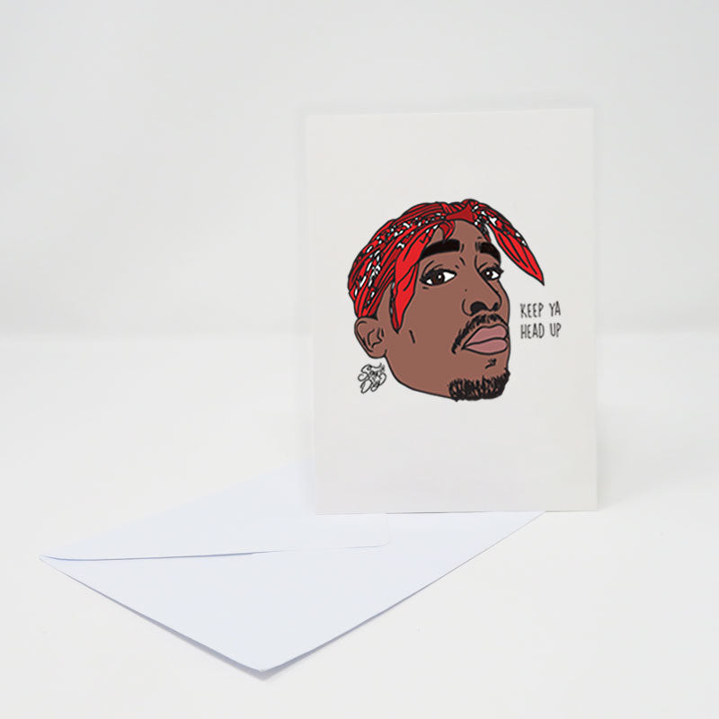 Tupac | Keep ya head up - postcard