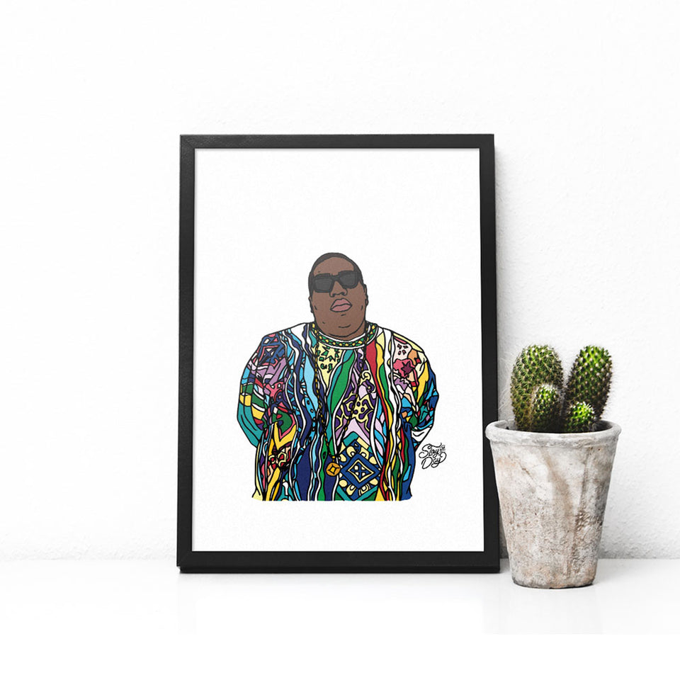 biggie coogi sweater poster