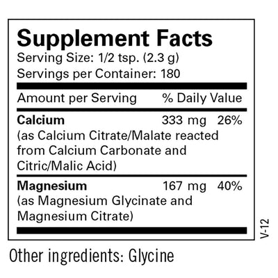 Cal/Mag Powder 180 SRVGS by Metabolic Maintenance