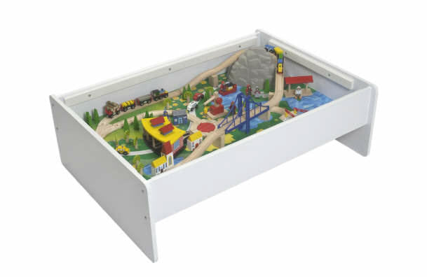 LittleKidStuff.com — White Double Decker Train Table