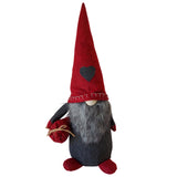X-mas Old Man with Heart & Sack - Red /Grey 50CM - NC020