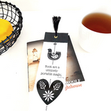 Nordic Fuglehjerte (Birds heart) Design Bookmark with tassel (CODE BM1006)