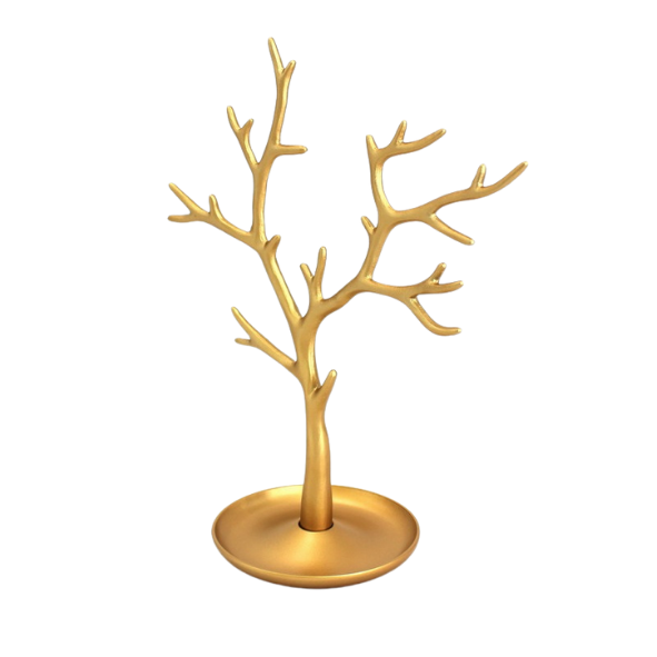 METAL GOLD JEWELLERY TREE STAND - 28CM (Code 1005) - Wholesale