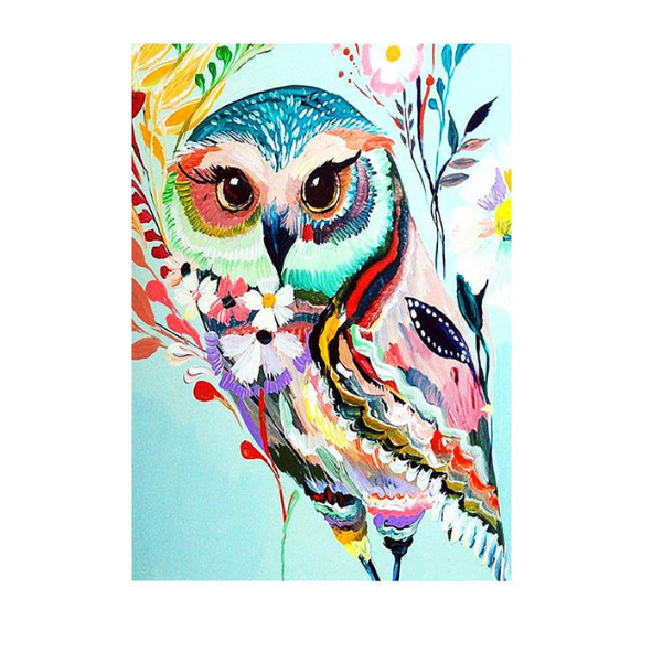OWL PAINT BY NUMBER ART KIT - 40x50CM (Code 1012)