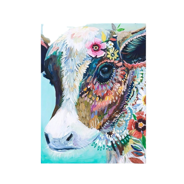 COW PAINT BY NUMBER ART KIT - 40x50CM (Code 1011)