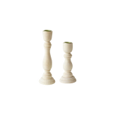 NATURAL WOODEN CANDLE STICK SET OF 2 - 12.6/17CM (Code 1003)