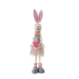 Pink fabric Rabbit standing - 48CM (CODE 1017) - Wholesale NB! NEW STOCK COMING SOON!