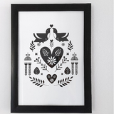 Nordic Design Print Turtel Duer (Love Birds) (CODE NP1002) - Wholesale