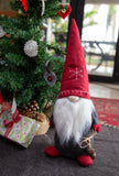 X-mas Old Man with Snowflake & Bells - Red/Grey 50CM - NC041 NB! Only available from beginning of November!