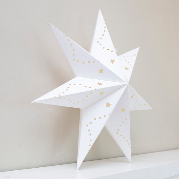 White Scandinavian Decorative Hanging Star - 30CM (CODE 1013) - Wholesale