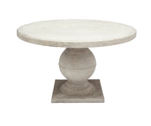 Made Goods Cyril Round Table - Aged White