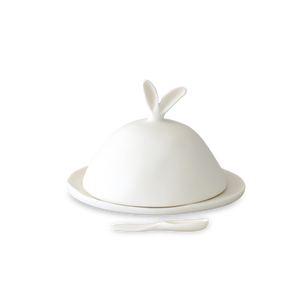 Large Covered Dish with Cheese Spreader