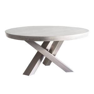 Tres Heavy White Washed Dining Table