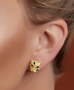 Baby Jaguar Stud Earrings
