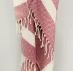 Yosemite Turkish Towel - Burgundy
