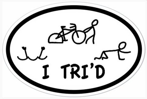"4"" x 6"" I TRI'D Oval Vinyl Decal Bumper Sticker"