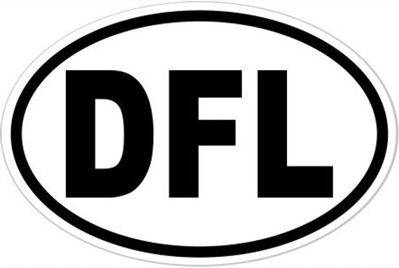 "4"" x 6"" DFL Oval Vinyl Decal Bumper Sticker"