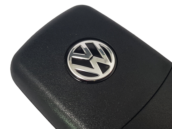 Black VW 14mm Key Badge