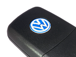 Blue VW 14mm Key Badge