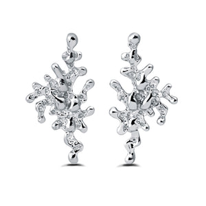 sa'oti saoti jewelry handcrafted 925 sterling silver rhodium plated melt earring earrings
