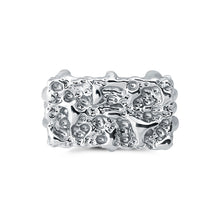 sa'oti saoti jewelry handcrafted 925 sterling silver rhodium plated melt ring