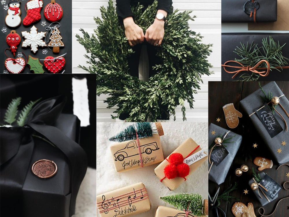 Black Christmas gift packaging ideas by Espacio Design Studio - From Poland With Love
