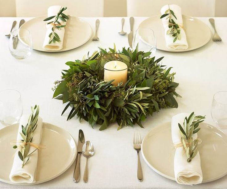 Natural winter table inspiration by Czajka Wnętrza - From Poland With Love